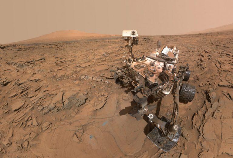 کاوشگر Curiosity بر روی مریخ