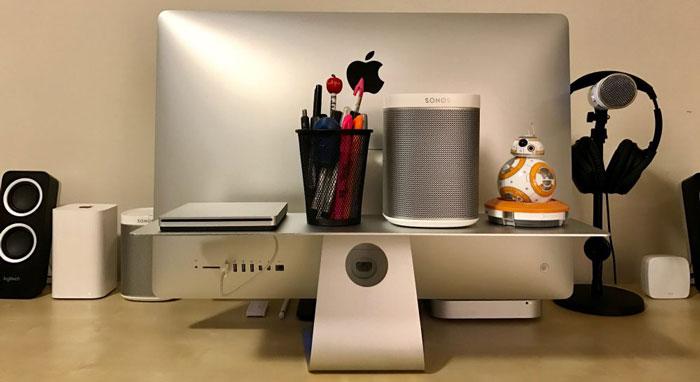 تماشا کنید: استفاده بهینه از پایه iMac با Float Shelf یا طبقه شناور