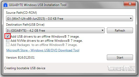 اضافه کردن درایور XHCI با Windows Image Tool