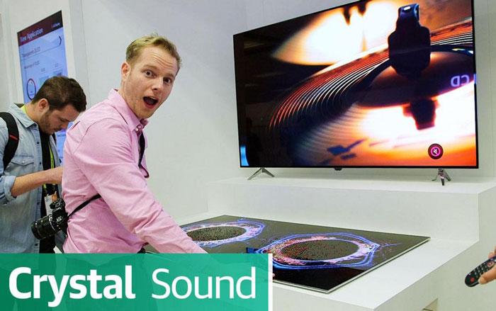 تلویزیون 65 اینچی OLED ال جی با فناوری Crystal Sound نیاز به بلندگو ندارد
