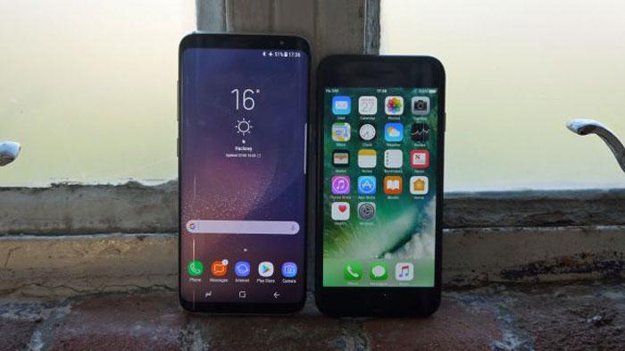 مقایسه آیفون 7 با گلکسی S8